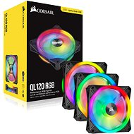 Corsair iCUE QL120 RGB 120mm PWM Triple Fan + Lighting Node CORE - Számítógép ventilátor