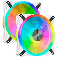 Corsair iCUE QL140 RGB 140mm White Dual Fan Kit - Számítógép ventilátor
