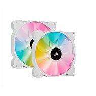 Corsair iCUE SP140 RGB ELITE Dual Pack White + Lightning Node Core - Számítógép ventilátor