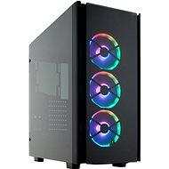 Corsair 500D RGB SE Obsidian Series fekete átlátszó oldallappal - Számítógépház