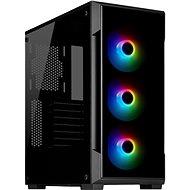 Corsair iCUE 220T RGB Tempered Front Glass - fekete - Számítógépház