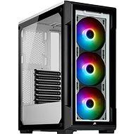 Corsair iCUE 220T RGB Tempered Front Glass - fehér - Számítógépház