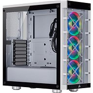 Corsair iCUE 465X RGB Tempered Glass fehér színű - Számítógépház