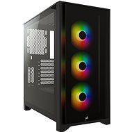 Corsair iCUE 4000X RGB Tempered Glass Black - Számítógépház