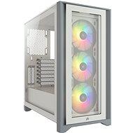 Corsair iCUE 4000X RGB Tempered Glass White - Számítógépház