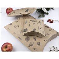 Be Nice természetes karácsonyi ajándék dobozok - barna (3 db) - Ajándékdoboz