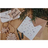 Be Nice karácsonyi üdvözlőlap - költő - Ajándék kísérő kártya