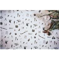 Be Nice természetes karácsonyi papír - könnyű nagy (3 pc) - Csomagolópapír