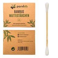 PANDOO bambusz pamut fültisztító pálcika, organikus pamuttal 200 db - Fültisztító pálcika