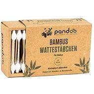 PANDOO bambusz fültisztító pálcika organikus pamutból 55 db - Fültisztító pálcika