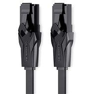 Vention Flat CAT6 UTP Patch Cord Cable 3m Black - Hálózati kábel