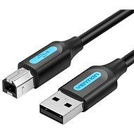 USB 2.0 dugó - USB-B dugasz nyomtató kábel ferrit maggal 10M fekete PVC típus - Adatkábel