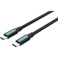 C típusú (USB-C) 2.0 dugó - USB-C csatlakozó kábel 0,5 M fekete PVC típus - Adatkábel