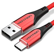 Vention Type-C (USB-C) <-> USB 2.0 Cable 3A Red 1,5m Aluminum Alloy Type - Adatkábel
