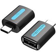 Vention USB-C to USB 2.0 Female OTG Adapter Black PVC Type - Átalakító