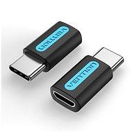 Vention USB-C (M) to Micro USB 2.0 (F) OTG Adapter Black PVC Type - Átalakító