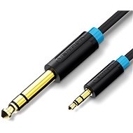 Vention 6,5mm Jack Male to 3,5mm Male Audio Cable 1m - fekete - Audio kábel