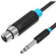 Vention 6,5mm Male to XLR Female Audio Cable 2m - fekete - Audio kábel