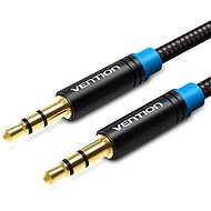 Vention Cotton Braided 3,5mm Jack Male to Male Audio Cable 1m Black Metal Type - Audio kábel