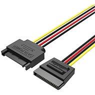 Vention SATA 15P Power Extension Cable 0.3M Black - Tápkábel