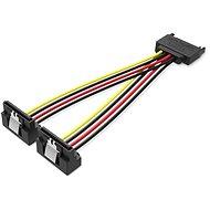 Vention SATA 15P (M) to 2x 15P SATA 90° (F) Power Splitter Cable 0.15M Black,15M fekete
