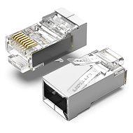 Vention Cat.6 FTP RJ45 moduláris csatlakozó átlátszó 100 csomag - Csatlakozó