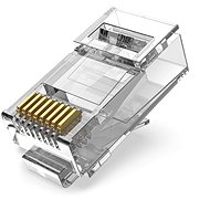 Vention Cat.6A UTP RJ45 moduláris csatlakozó átlátszó 100 csomag - Csatlakozó