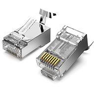 Vention Cat.7 FTP RJ45 moduláris csatlakozó átlátszó 10 csomag - Csatlakozó