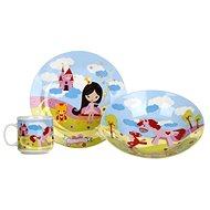 BANQUET 3 darabos baba étkészlet, kis hercegnő A11675 - Gyerek étkészlet
