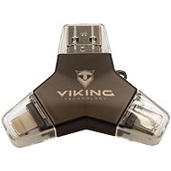 Viking USB 3.0 Pendrive 4in1 128GB fekete - Pendrive