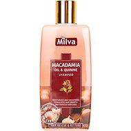 MILVA 200 ml-es természetes sampon makadámolajjal és chininnel