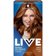 SCHWARZKOPF LIVE Intense Gel Colour 7.57 Édes karamell 60 ml - Hajfesték