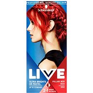 SCHWARZKOPF LIVE Color XXL féltartós hajfesték 92 Pillar Box Red 50 ml