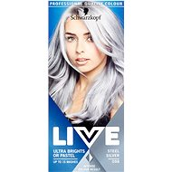Schwarzkopf LIVE Ultra Bright Steel Silver 50 ml - Hajfesték