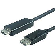 PremiumCord DisplayPort - HDMI csatlakozó, 2 m, fekete - Videokábel