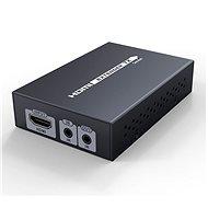 PremiumCord HDMI HDbaseT Extender Ultra HD 4K x 2K - (70 méter, Cat5e/Cat6 kábellel) - Átalakító