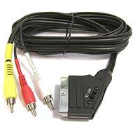 Adatkábel PremiumCord SCART kábel - 3xCINCH M / M 1,5m kapcsolóval