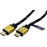 Roline  HDMI – HDMI kábel 7,5m arany-fekete - Videokábel