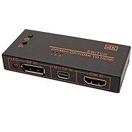 OEM kapcsoló HDMI / miniDP / DP -> HDMI, 3:1 - Kapcsoló