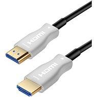 PremiumCord HDMI, száloptikás High Speed + Ethernet, 4K@60Hz 25m kábel, M/M, aranyozott csatlakozó - Videokábel