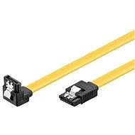 Adatkábel PremiumCord SATA III 90° 0,5 m - Datový kabel