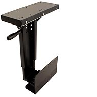 Roline asztallap alatti slim PC tartó, forgatható, fekete, 10kg