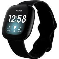 Fitbit Versa 3 - Black/Black Aluminum - Okosóra