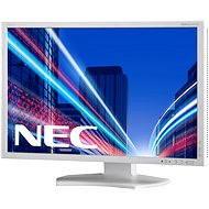 "23"" NEC MultiSync LED P232W ezüstfehér - LCD monitor"