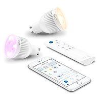 WiZ Wi-Fi GU10 WZ0195082 okosizzó, 2 db, távirányítóval - LED izzó