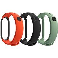 Xiaomi Mi Band 5 Strap (fekete, narancsszín, ciánzöld) - Szíj