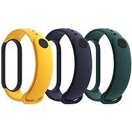 Xiaomi Mi Band 5 Strap (kék, sárga, zöld) - Szíj