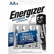 Eldobható elem Energizer Ultimate Lithium AA / 4 - Jednorázová baterie