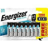 Energizer MAX Plus AA 8 + 4 db ingyen - Eldobható elem