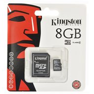 Kingston MicroSDHC 8GB Class 4 + SD adapter - Memóriakártya